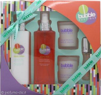 Style & Grace Bubble Boutique Bathing Experience Confezione Regalo 250ml Mist per il Corpo + 250ml Lozione Corpo + 2 x 65g Candele + 15ml EDP Roller