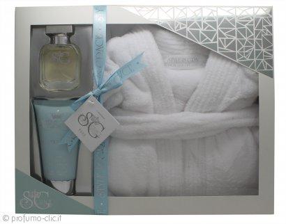 Style & Grace Puro Ultimate Comfort Robe Confezione Regalo 150ml Lozione Corpo + 50ml EDP + Accappatoio Taglia Unica