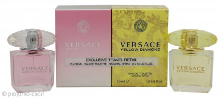 Versace Confezione Regalo 30ml Yellow Diamond EDT + 30ml Bright Crystal EDT