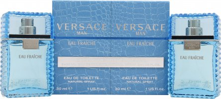 Versace Man Eau Fraiche Confezione Regalo 2 x 30ml EDT Spray