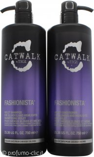 Tigi Catwalk Fashionista Violet DUO 750ml Shampo + 750ml Balsamo