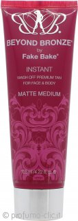 FakeBake FakeBake Beyond Bronze Instant Wash Off Premium Tan Per Viso e Corpo 125ml Matte Medium