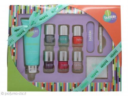 Style & Grace Bubble Boutique Perfect Mani-Care Confezione Regalo 100ml Crema Mani + 5x8ml Smalti + Lima per Unghie + Adesivi Unghie + Stick per Cuticole