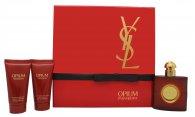 Yves Saint Laurent Opium Confezione Regalo 50ml EDT + 50ml Lozione per il Corpo + 50ml Gel Doccia