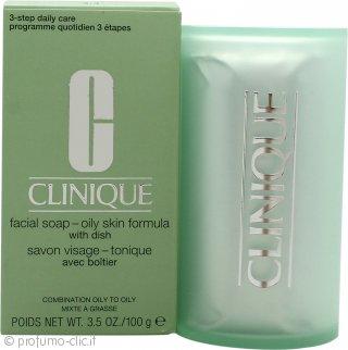 Clinique Cleansing Range Sapone viso con Astuccio 100g Pelle Grassa