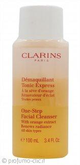 Clarins One-Step Detergente Viso con Estratti di Arancio 100ml Tutti i Tipi di Pelle