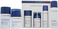 Clarins Mens Essentials Confezione Regalo 50ml Balsamo Idratante + 50ml Gel da Barba + 75g Deodorante Stick