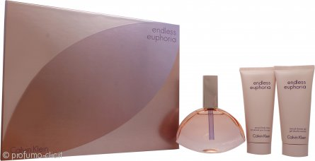 Calvin Klein Endless Euphoria Confezione Regalo 125ml EDP Spray + 100ml Lozione Corpo + 100ml Gel Doccia