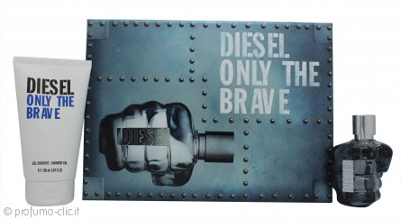 Diesel Only The Brave Confezione Regalo 75ml EDT + 150ml Gel Doccia
