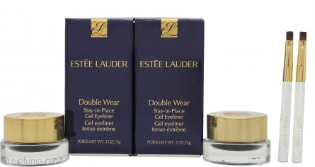 Estée Lauder Double Wear Stay-in-Place Gel Eyeliner Duo Set 2 x Vasetti Neri