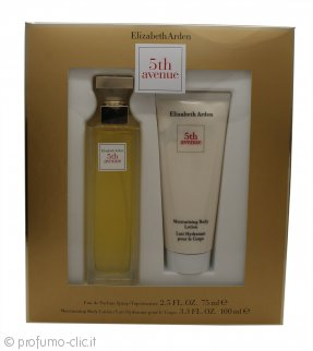 Elizabeth Arden Fifth Avenue Confezione Regalo 75ml EDP Spray + 100ml Lozione Corpo