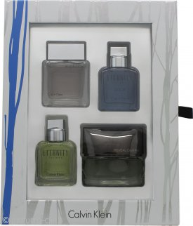 Calvin Klein Confezione Regalo Miniature 15ml Eternity Men + 15ml Euphoria Men + 15ml Eternity Aqua + 15ml Reveal