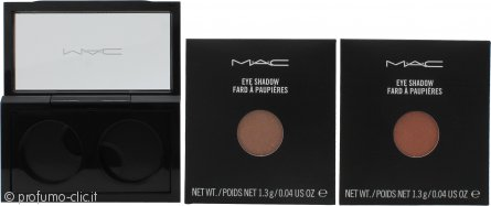 MAC Pro Palette Pro Colour Eyeshadow Set 2 x 1.3g Ricariche Ombretti - All That Glitters + Expensive Pink