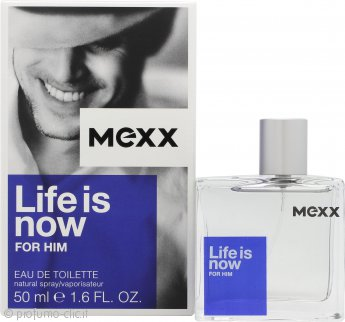 Mexx Life Is Now for Him Eau de Toilette 50ml Spray
