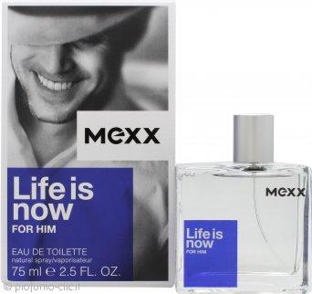 Mexx Life Is Now for Him Eau de Toilette 75ml Spray