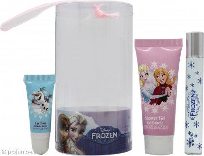 Disney Frozen Confezione Regalo 9ml Rollerball + 25ml Bagnoschiuma + Lucidalabbra