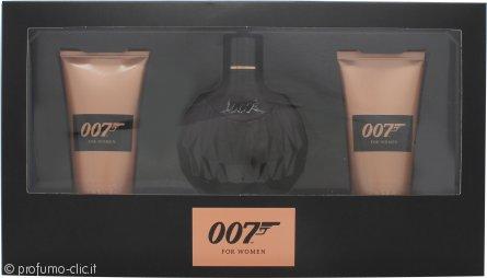 James Bond 007 for Women Confezione Regalo 50ml EDP + 50ml Gel Doccia + 50ml Lozione Corpo