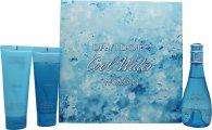 Davidoff Cool Water Confezione Regalo 100ml EDT + 75ml Lozione per il Corpo + 75ml Gel Doccia