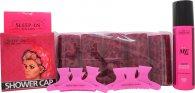 Sleep In Rollers Girls Night In Confezione Regalo 10 Bigodini + 250ml Body Soak + Cuffia da Doccia