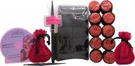 Sleep In Rollers Glitter Black And Red Confezione Regalo 20 Bigodini + Pettine + DVD