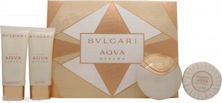 Bvlgari Aqva Divina Confezione Regalo 65ml EDT + 100ml Gel Doccia + 100ml Lozione Corpo + 150g Sapone