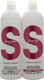 Tigi Duo Pack S-Factor Diamond Dreams Confezione Regalo 750ml Shampoo + 750ml Balsamo