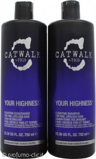Tigi Catwalk Your Highness Confezione da Due 750ml Shampoo + 750ml Balsamo