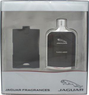 Jaguar Classic Amber Confezione Regalo 100ml EDT + Tag per Bagaglio