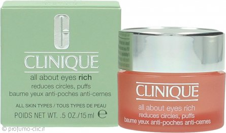 Clinique All About Eyes Rich Crema Contorno Occhi 15ml