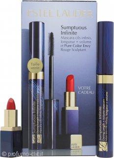 Estee Lauder Sumptuous Infinite Confezione Regalo Infinite Mascara 01 Nero + Mini Rossetto 04 Envious