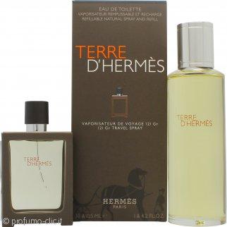 Hermes Terre D'Hermes Confezione Regalo 30ml EDT Ricaricabile + 125ml EDT Ricarica