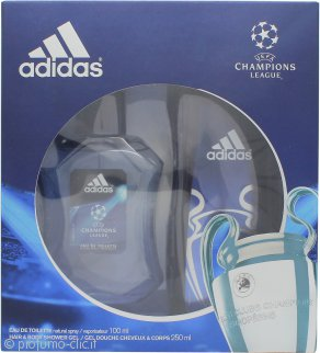 Adidas UEFA Champions League Edition Confezione Regalo 100ml EDT + 250ml Gel Doccia