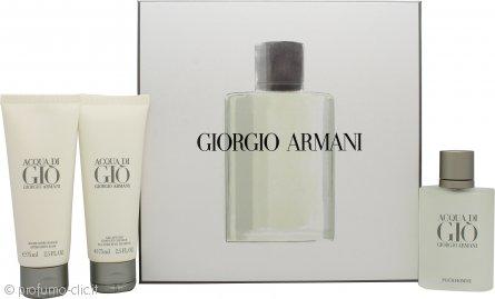 Giorgio Armani Acqua Di Gio Confezione Regalo 50ml EDT + 75ml Gel Doccia + 75ml Balsamo Dopobarba
