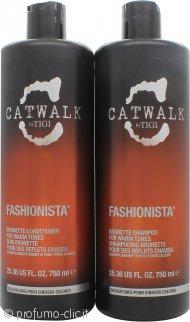 Tigi Duo Pack Catwalk Fashionista Brunette Confezione Regalo 750ml Shampoo + 750ml Balsamo