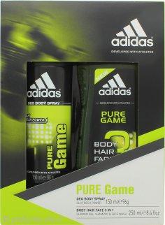Adidas Pure Game Confezione Regalo 150ml Deodorante Spray + 250ml Gel Doccia