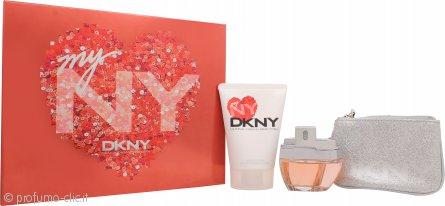 DKNY My NY Confezione Regalo 50ml EDP Spray + 100ml Bagnoschiuma + Borsetta