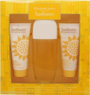 Elizabeth Arden Sunflowers Confezione Regalo 100ml EDT + 100ml Lozione per il Corpo + 100ml Detergente in Crema