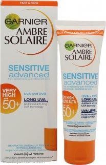 Garnier Ambre Solaire Sensitive Advanced Collo & Viso 50ml SPF50