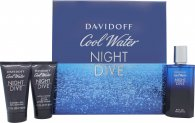 Davidoff Cool Water Night Dive Confezione Regalo 75ml EDT + 50ml Gel Doccia + 50ml Balsamo Dopobarba