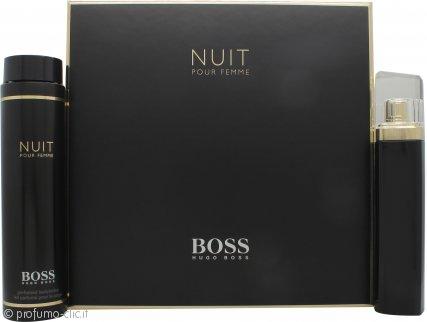 Hugo Boss Boss Nuit Pour Femme Confezione Regalo 75ml EDP Spray + 200ml Crema Corpo
