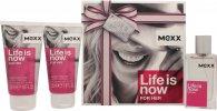 Mexx Life Is Now for Her Confezione Regalo 30ml EDT + 2 x 50ml Lozione Corpo