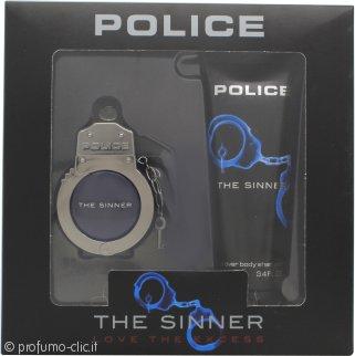 Police The Sinner Confezione Regalo 30ml EDT + 100ml Doccia Shampoo