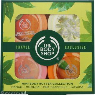 The Bodyshop Collezione Mini Burro Corpo 4 x 50ml - Mango + Moringa + Pink Grapefruit + Satsuma