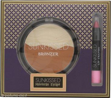 Sunkissed Moroccan Bronze Spice Confezione Regalo 16g Bronzing Powder + 3.3g Matita Labbra