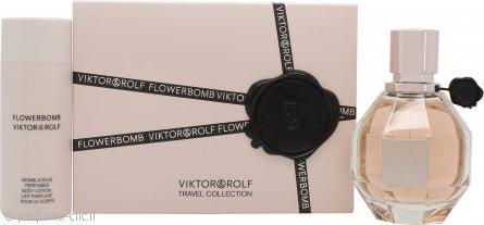 Viktor & Rolf FlowerBomb Confezione Regalo 50ml EDP Spray + 50ml Lozione Corpo