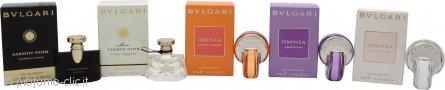 Bvlgari Miniatures Confezione Regalo 5 x 5ml - Jasmin Noir EDP + Mon Jasmin Noir EDT + Omnia Indian Garnet EDT + Omnia Amethyste EDT + Omnia Crystalline EDT