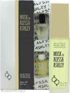 Alyssa Ashley Musk Confezione Regalo 100ml EDT + 5ml Musk Perfume Oil + 5ml White Musk Perfume Oil