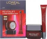 L'oreal Revitalift Laser Renew Anti-Ageing Skincare Confezione Regalo 50ml Crema da Giorno + 15ml Crema Occhi