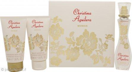 Christina Aguilera Woman Confezione Regalo 30ml EDP + 50ml Lozione Corpo + 50ml Gel Doccia