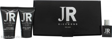 John Richmond John Richmond for Men Confezione Regalo 4.5ml EDT + 25ml Gel Doccia + 25ml Balsamo Dopobarba